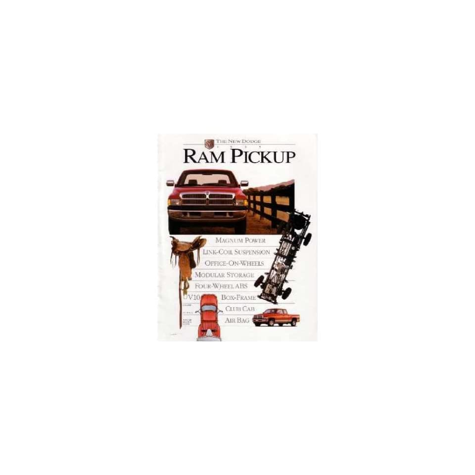 1995 Dodge Ram Pickup Truck Sales Brochure Literature Piece Dealer Advertisement