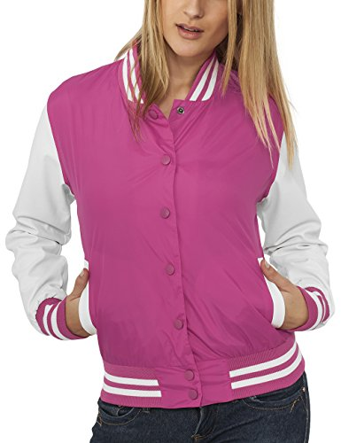 Urban Classics Ladies Light College Jacket, Giacca Donna, Multicolore (Fus/Wht 107), 38 Inches (Taglia Produttore: M)