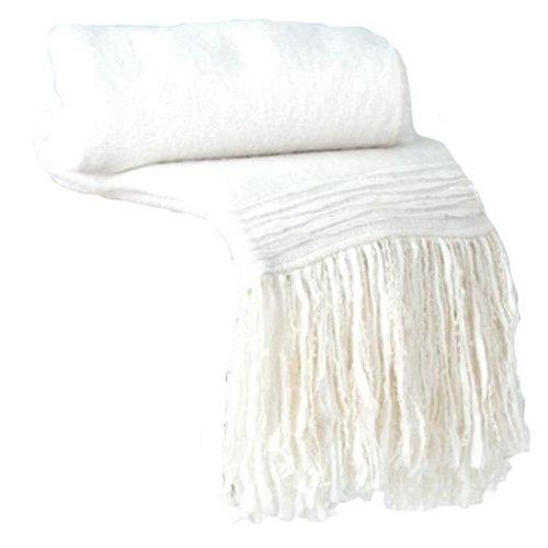Shiraleah Elyse Throw Blanket, Ivory front-283982