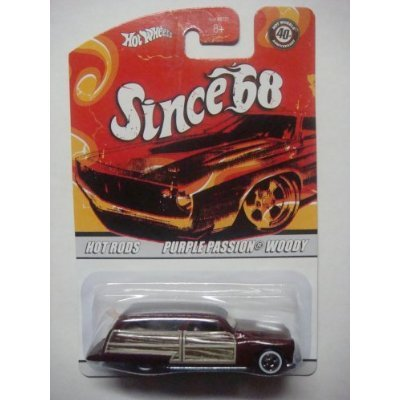Hot Wheels Purple Passion Woody Since '68 Series #10 With Board White Wall Scale 1/64 Collector