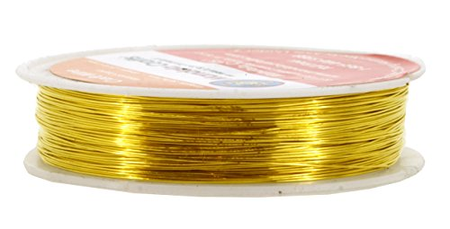 Mandala Crafts Extra Long Colored Craft Jewelry Making Copper Wire (26 Gauge(50 Meters), Gold) (Wire Wrap Jewelry Making compare prices)