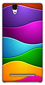 The Racoon Lean Colorful waves hard plastic printed back case / cover for Sony Xperia T2 Ultra