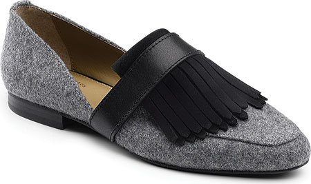 G.H. Bass & Co. Women's Harlow Pointed Toe Flat, Grey/Black, 8.5 M US (Harlow And Co compare prices)