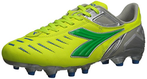 Diadora Women's Maracana L Soccer Cleat Shoes, Yellow Flou/Lime/Royal, 8.5 M US