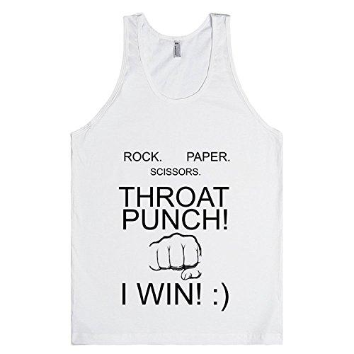 ROCK PAPER SCISSORS THROAT PUNCH I WIN   T-Shirt XLarge