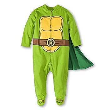 Baby Boys' Teenage Mutant Ninja Turtles Caped Sleep N' Play Outfit