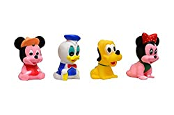 Junior Mickey Minni Pluto Fun Premium Soft Rubber Squeeze Sound Toy For Baby