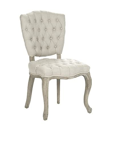 Zentique Piaf Side Chair, Natural/Limed Grey