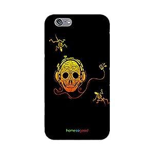 HomeSoGood Musical Skull Black 3D Mobile Case For iPhone 6 (Back Cover)