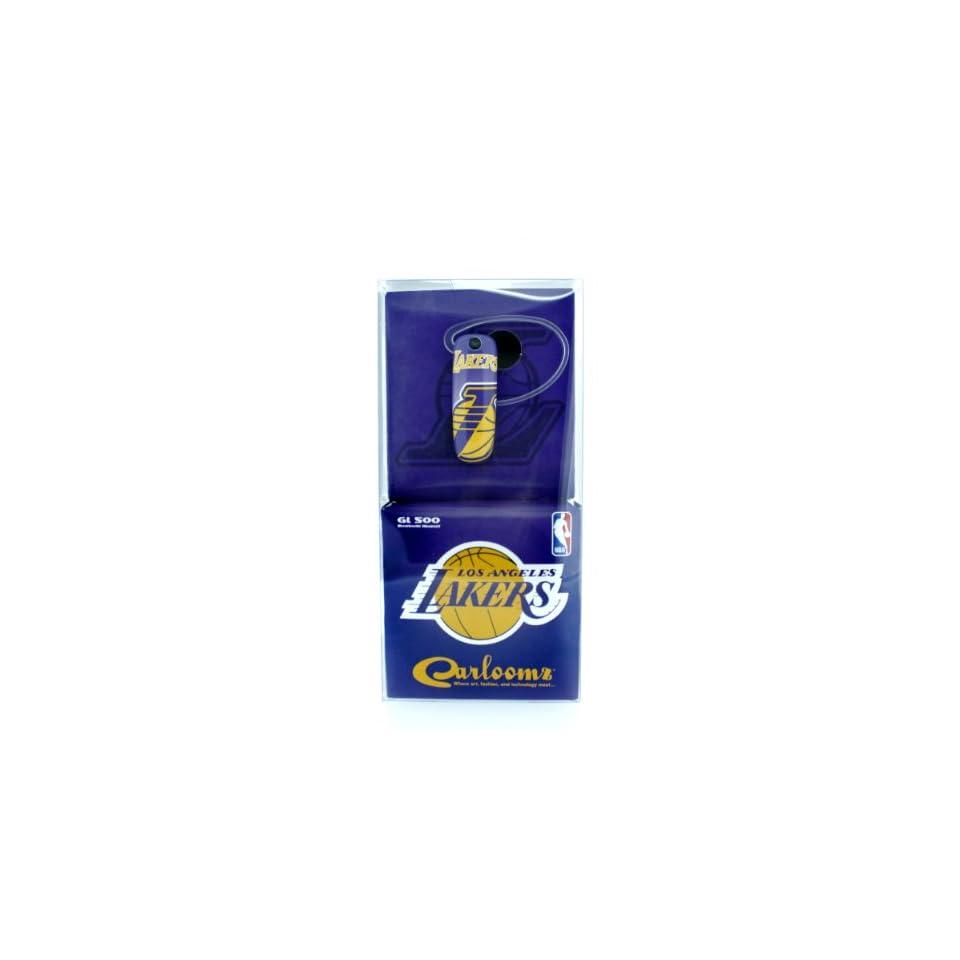 Earloomz SL 394 Los Angeles Lakers Spotlight   Bluetooth Headset   Retail Packaging   Purple/Yellow