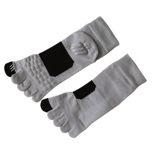 (Tabio) レーシングランエアー five fingers 25-27 cm gray + black