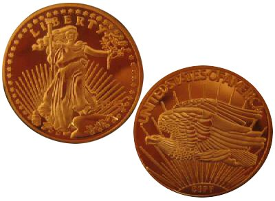 1933 $20 St. Gaudens Gold Double Eagle Replica Coin