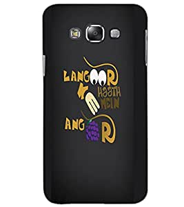 SAMSUNG GALAXY E7 TEXT Back Cover by PRINTSWAG