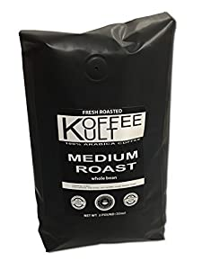 Koffee Kult Coffee Beans Medium Roasted - Highest Quality Delicious Coffee - Whole Bean and Ground Coffee - Fresh Roasted Gourmet Aromatic Artisan Blend É by Koffee Kult Corp