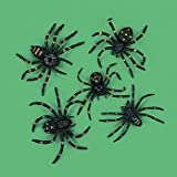 12 Plastic Spiders