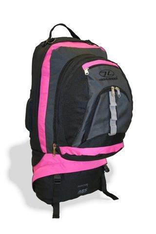 Travel Rucksack - 90 Litre Backpack with 25 Litre Daysack (Pink/Black)