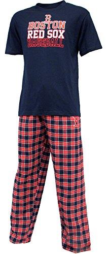 "Boston Red Sox MLB ""Medalist"" Men's T-Shirt Camicia & Flannel Pajama Pants Sleep Set"