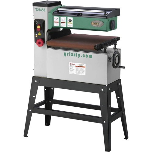 grizzly g0458 1 5 hp single phase open end drum sander 18
