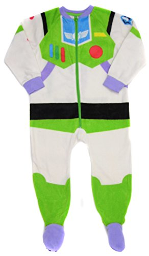 Boys Buzz LightYear Dress Up Fleece All In One Sleepsuit Pyjama 9-12M Up to 4-5Y