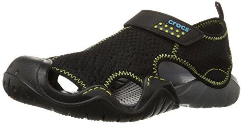 crocs-swiftwater-m-sandalias-de-sintetico-hombre-negro-negro-charcoal-41-42