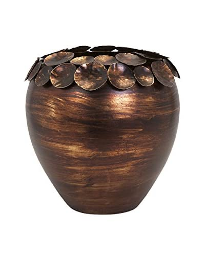 Ethan Copper Small Leaf Vase, Copper