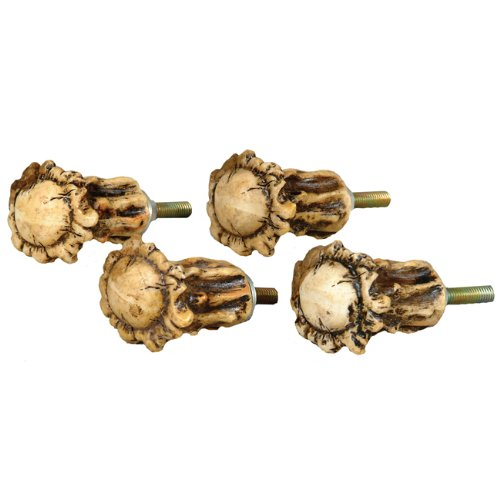 Antler Crown Cabinet Knobs - Set of 4 (Cabinet Antler Knobs compare prices)