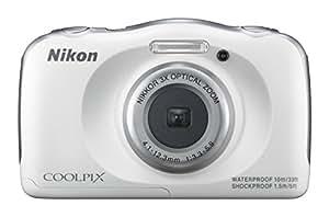Nikon デジタルカメラ S33 防水 1317万画素 S33 ホワイト S33WH