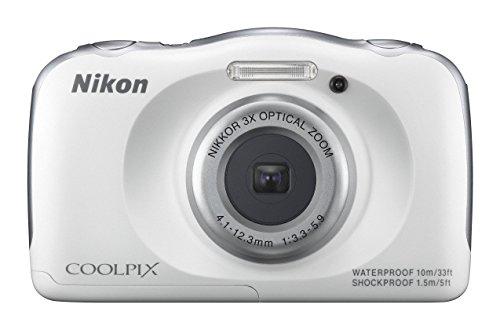 Nikon デジタルカメラ S33 防水 1317万画素 S33 ホワイト ...