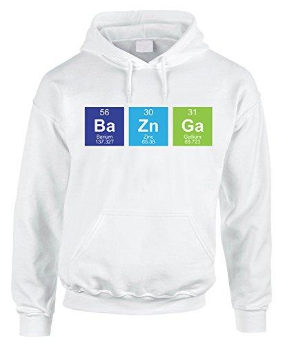 Felpa con cappuccio Ba Zn Ga tavola periodica chimica Sheldon Cooper - in cotone by Fashwork