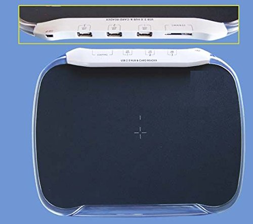 Mouse Pad With 3 Usb Ports & 4-In-1 Card Reader