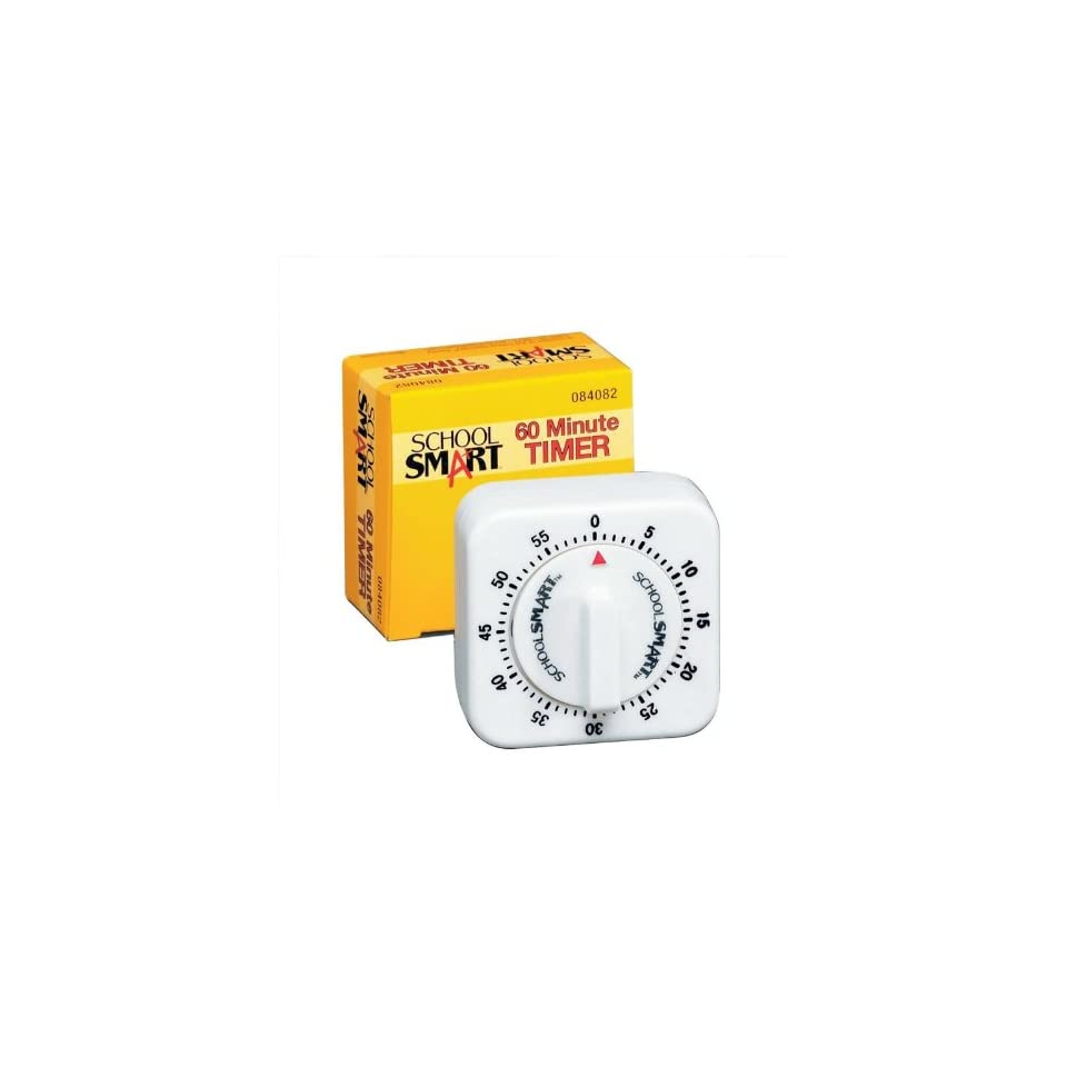 School Smart Small 60 Minute Timer With Bell  X 2 1