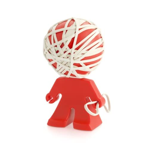 j-me original design Rafael Rubber Band Holder, Red