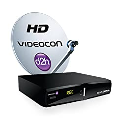 Videocon D2H HD DVR 1000GB with 1 Months Subscription Platinum HD Pack
