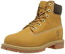 Timberland 6-Inch Premium Waterproof Boot (Toddler/Little Kid/Big Kid),Wheat Nubuck,6.5 M US Big Kid