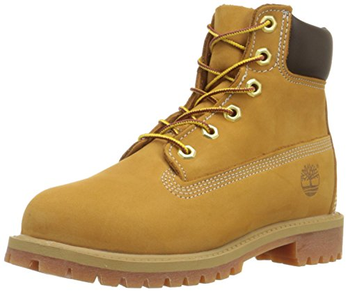 Timberland Stivali 6 In Classic Boot FTC_6 In Premium WP Boot, Stivali Unisex Bambino, Giallo (Wheat Nubuck), 36