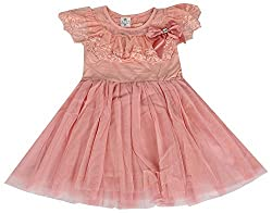 Party Princess Girls' Party Dress (8329-3/4, Peach, 3-4 Years)