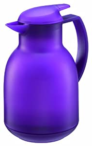 Leifheit Bolero Thermal Insulated Vacuum Jug Plastic Lavender 1 Litre