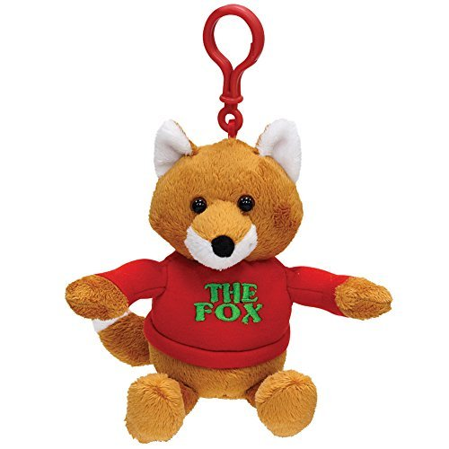 "Cuddle Barn the Fox Plush Keychain Carabiner ""What Does the FOX Say"""