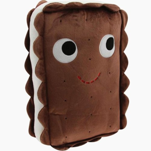 Cute Chocolate Chip Cookie Plush Cushion/travel Pillow Felt Fun Happy Biscuit - 1
