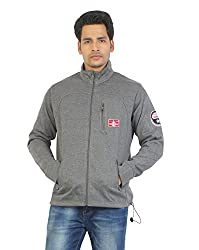 Aliep Stylish Grey Solid Full Sleeves Sweat Shirt For Men | ALP1547