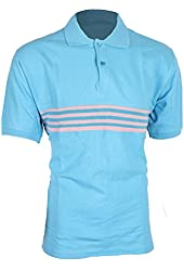 G Zap Men's Short Sleeve Striped Polo Tee