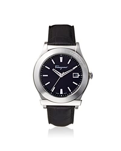Salvatore Ferragamo Men's FF3950014 1898 Black Leather Watch