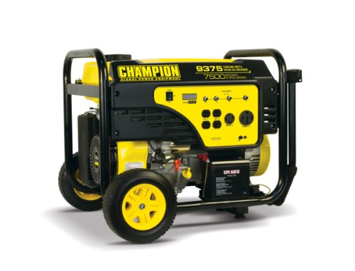 Portable 9,375 Watt Gasoline Generator with Wheel Kit and Electric Start Champion Power Equipment B00IIS7FIQ