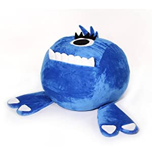 Jaxx Junior Monster Critter Beanbag, Blue