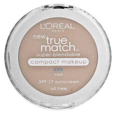 L'Oreal Paris True Match Super-Blendable Compact Makeup, Spf 17, Creamy Natural, 0.30 Ounce, 2 Ea (Pack of 2)