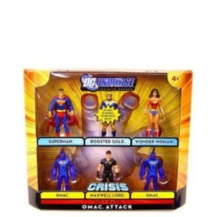 DC Universe Infinite Heroes Crisis Series Exclusive Action Figure 6Pack Omac Attack Superman, Booster Gold, Wonder Woman, 2 Omacs, & Maxwell Lord by DC Comics