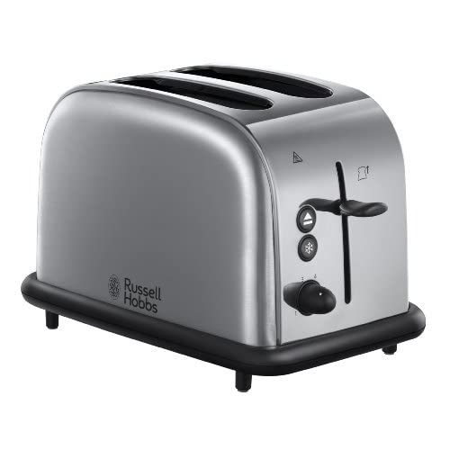 Russell Hobbs 20700 2 Slice Wide Slot Toaster - Polished and Brushed Stainless Steel