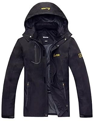 Wantdo Men's Sportswear Spring Front Zip Hooded Outdoor Windproof Jacket