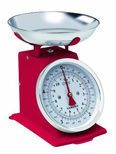 Hanson Balance de cuisine traditionnelle Rouge 5 kg