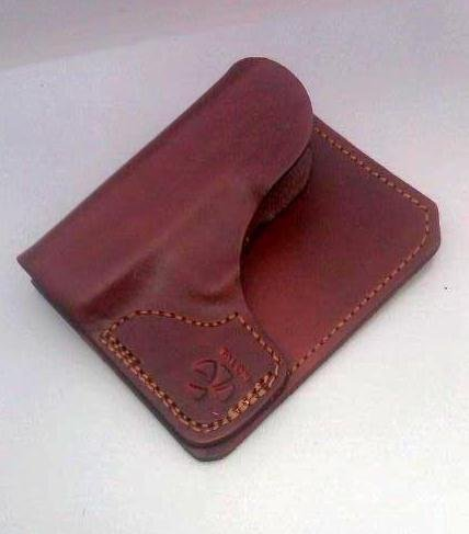 Wallet Holster for Ruger LCP and Kel-Tec P3AT LEFT Handed Brown with Laser